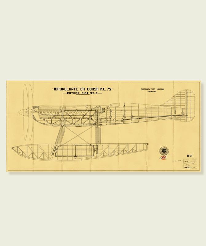Macchi Mc72 progetto Squadratlantica