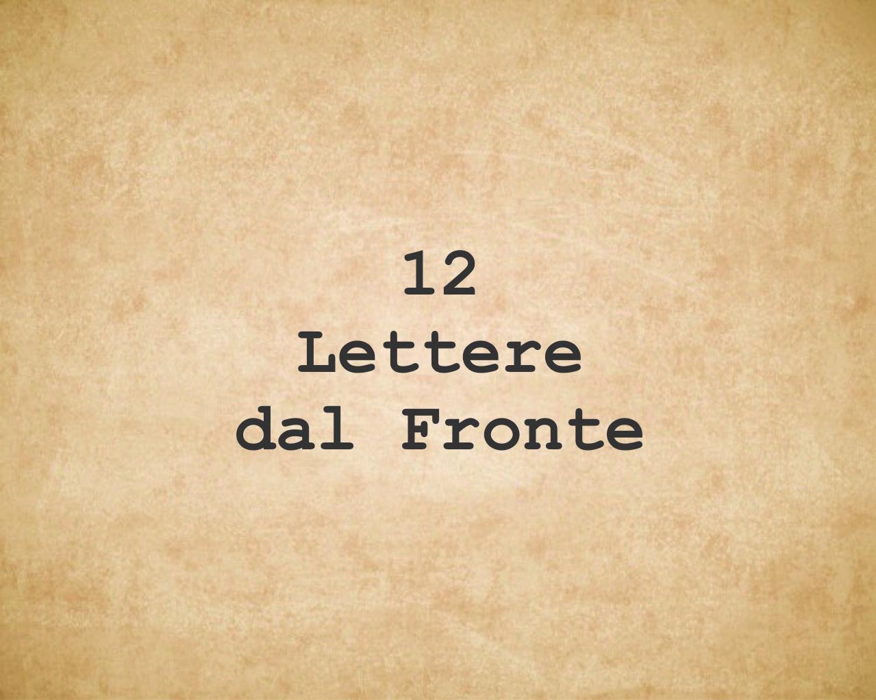 Lettere dal fronte Squadratlantica